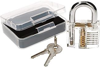 KOTARBAU® Lockpicking set transparant hangslot trainingsslot oefenslot voor het oefenen van noodopenen van sloten