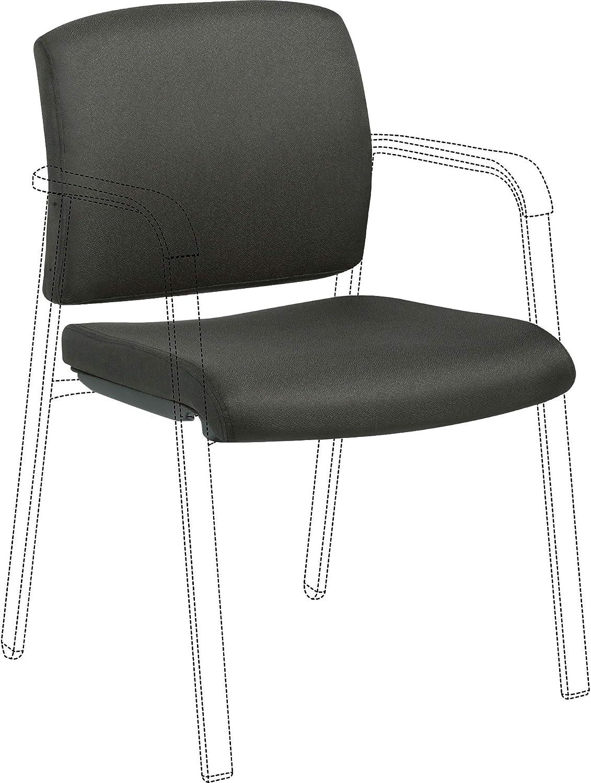 Lorell LLR30947 Stackable Chair Upholstered Kit Seat & Back Upholstery Set, Black