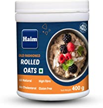 HAIM Old Fashioned Rolled Oats ( 100% Wholegrain, Gluten Free, Vegan, Non GMO) 400g Pack of 1