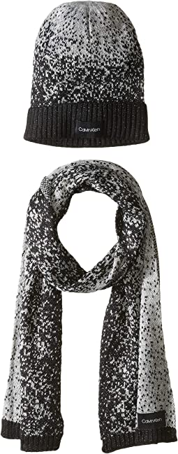 Lurex Sparkle/Beanie Muffler Two-Piece Set