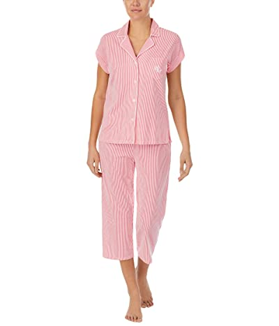 LAUREN Ralph Lauren Southern Classic Knits Short Dolman Notch Collar Capri Pajama Set