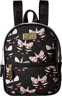 Luv Betsey Womens Sadie PVC Mini Sequin Quilted Backpack