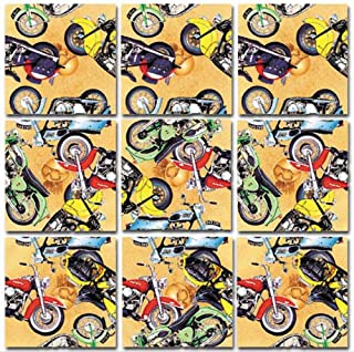 Scramble Squares Motorcycle 9 Piece Challenging Puzzle - Ultimate Brain Teaser and Mind Game for Young and Senior Alike - Engaging and Creative With Beautiful Artwork - By B.Dazzle