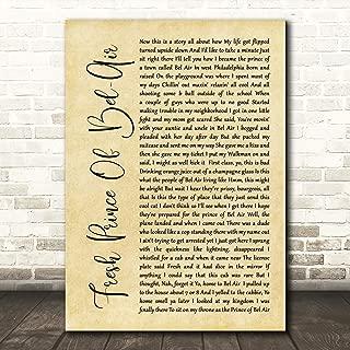 Fresh Prince of Bel-Air Rustic Script Song Lyric Gift Present Poster Print