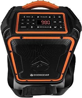 ECOXGEAR EcoXplorer GDI-EXPLR100 Rugged Waterproof Floating Portable Bluetooth AM/FM Wireless 50 Watt Speaker with Carry Strap (Orange)