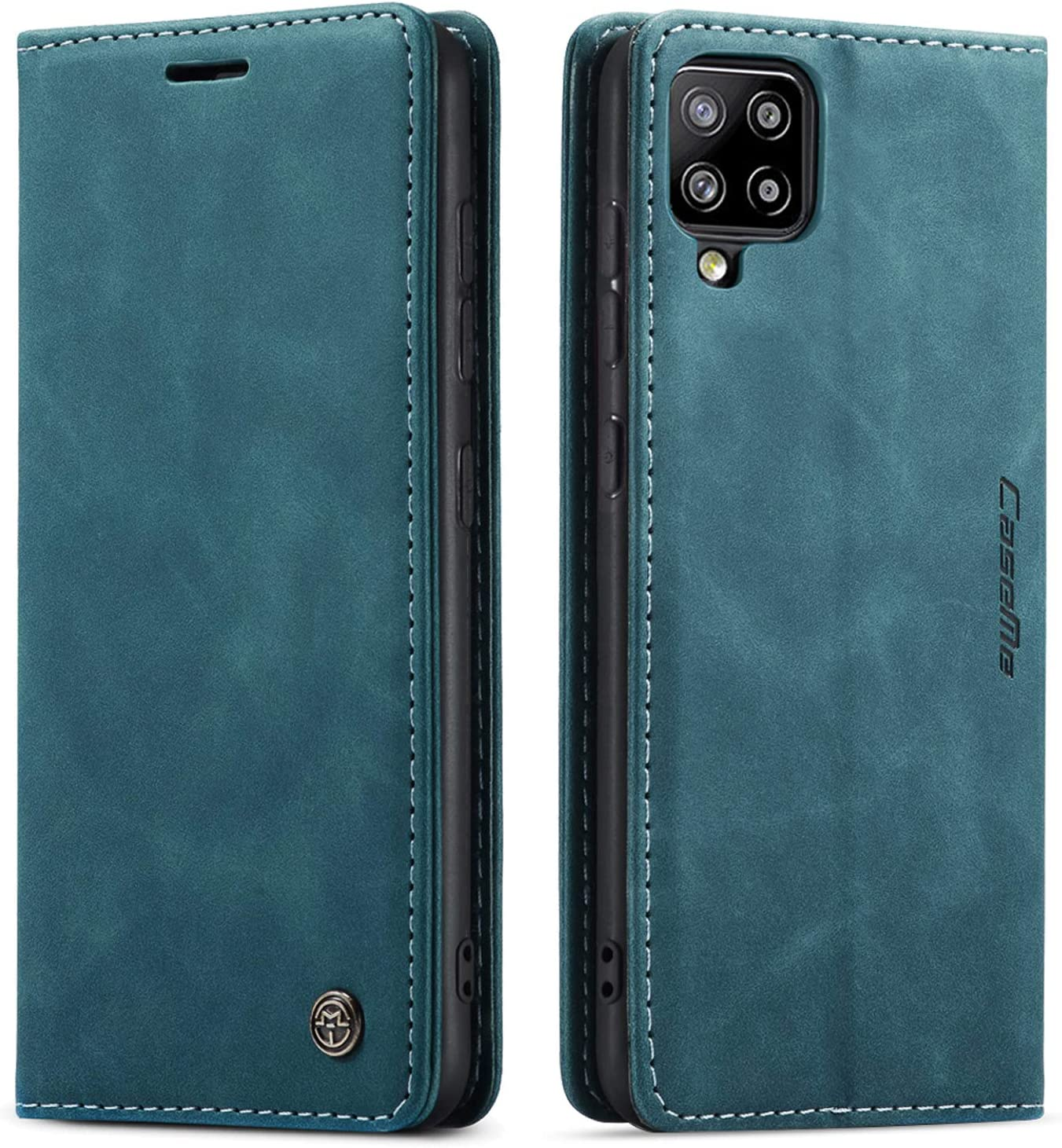 Kowauri Flip Case for Samsung Galaxy A42 5G,Leather Wallet Case Classic Design with Card Slot and Magnetic Closure Flip Fold Case for Samsung Galaxy A42 5G (Teal)