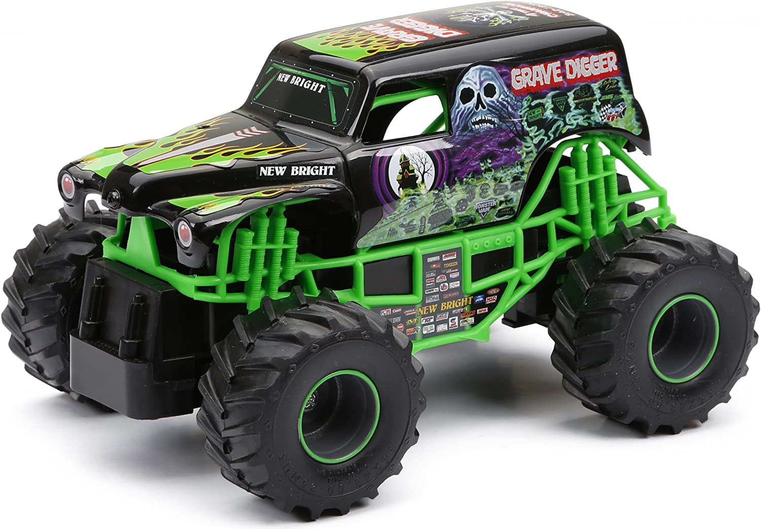 1ca226f4df4d New Bright F F Jam Grave Digger RC Car (1 24 Scale) by Bright Import ...