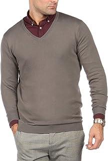 Blu Cherry Men's V Neck Premium Cotton Knitted Lightweight Jumper Pullover
