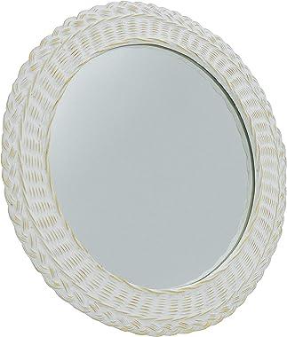 Studio Nova Bourdeaux Round Mirror, 24, Gold/White
