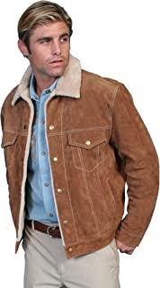 Men's Sherpa Lined Boar Suede Jacket - 113-86