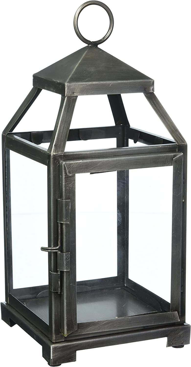 Max 71% OFF Home Locomotion 10014125 Rustic Manufacturer OFFicial shop Candle Silver Lantern