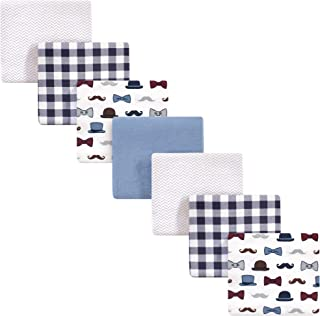 Little Treasure Unisex Baby Cotton Flannel Receiving Blankets, Handsome Fella 7-Pack, One Size