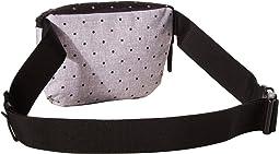 Polka Dot Crosshatch Grey/Black