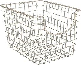 Spectrum Diversified Scoop Storage Basket, Small, Satin Nickel