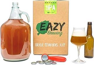 Eazy Brewing®Kit de elaboración de cerveza de 5 litros - Cerveza IPA (India Pale Ale) - Caja de regalo para preparar su propia cerveza artesanal – Instrucciones en Español