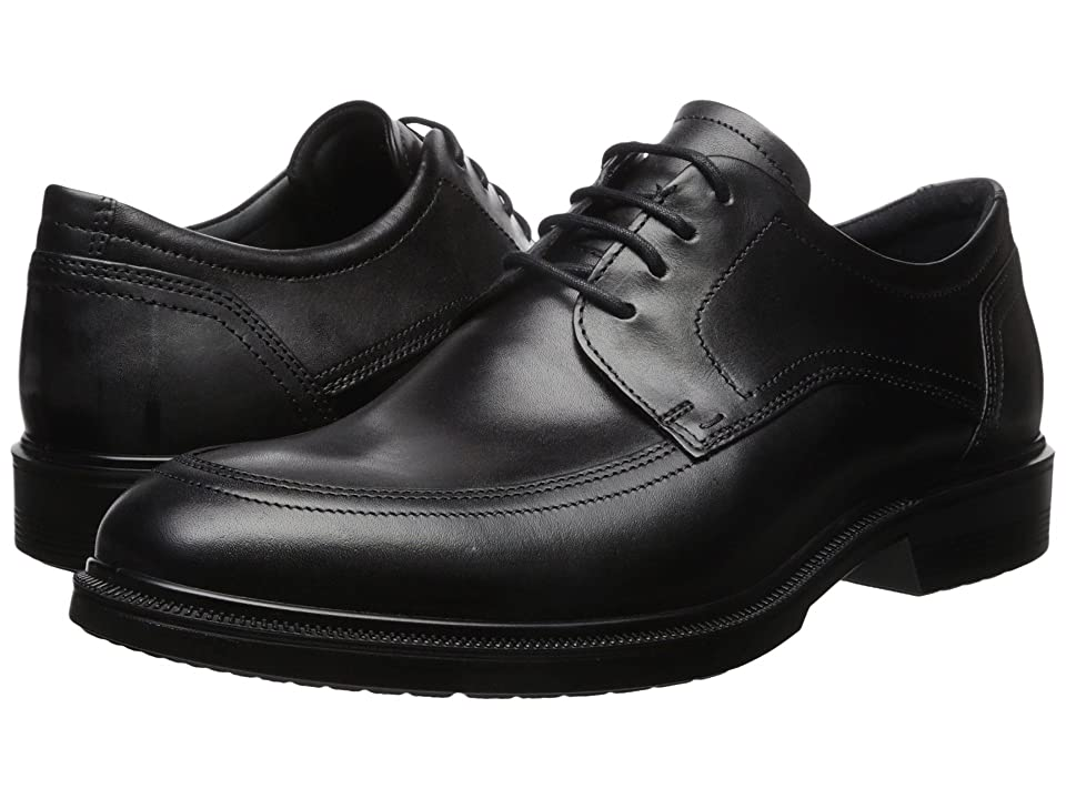 ECCO Lisbon Apron Toe Tie (Black) Men