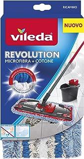 Vileda 159147Revolution Recambio Microfibra y algodón, color blanco