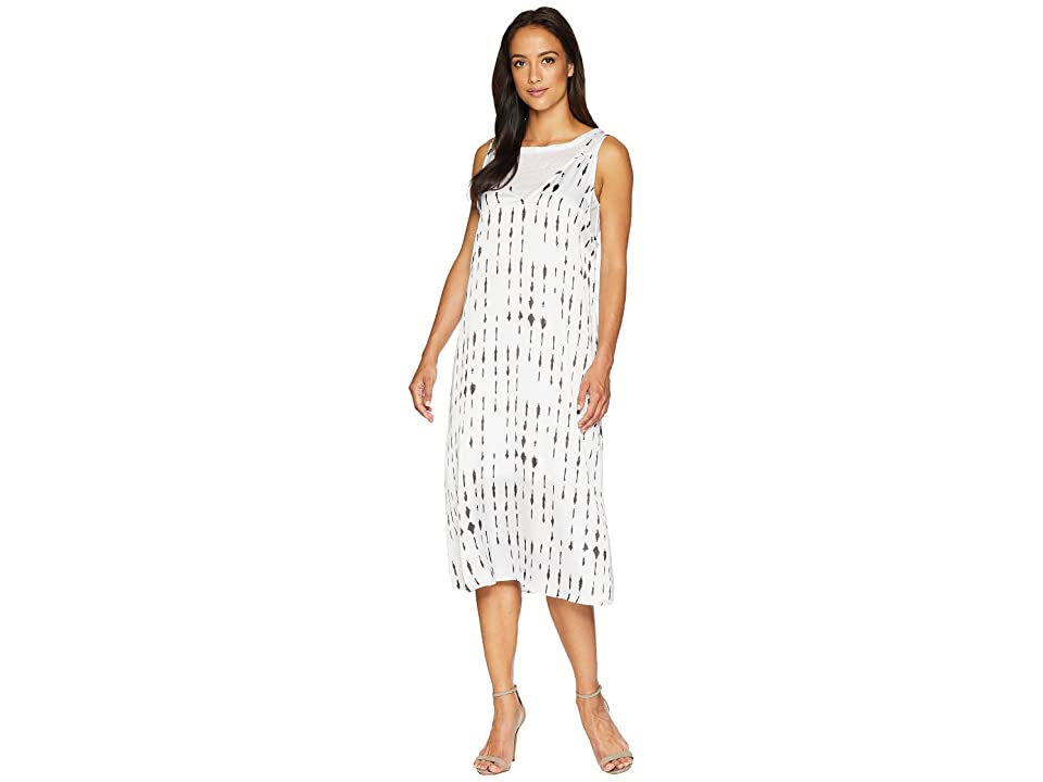 Kenneth Cole New York 2 Layered Tank Dress (Inkwell/White Combo) Women