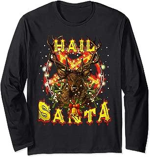 Hail-Santa Satan Reindeer Christmas Long Sleeve T-Shirt
