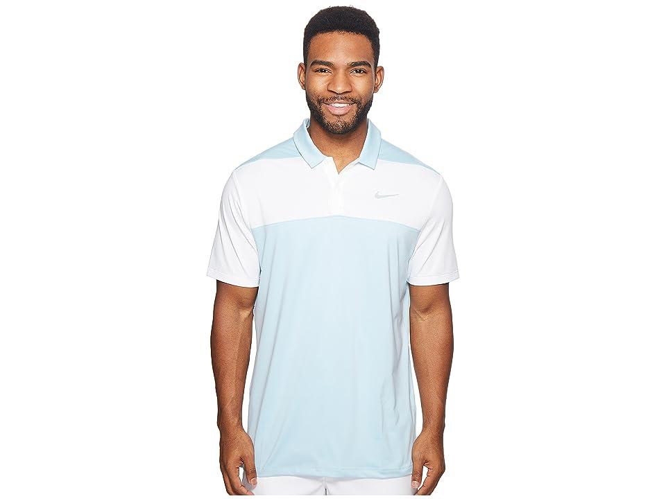 Nike Golf Color Block Dry Polo (Ocean Bliss/Light Carbon/Flat Silver) Men