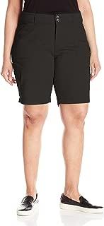 Women's Plus Size Relaxed-fit Avey Knit-Waist Cargo Bermuda Short