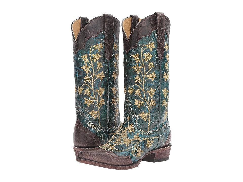 Stetson Luna (Turquoise) Cowboy Boots