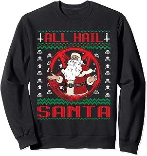 All Hail Santa 666 Satanic Ugly Christmas Sweatshirt
