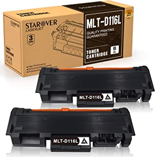 STAROVER Reemplazo de Cartucho Toner Compatible para Samsung MLT-D116L MLT-D116S para Samsung Xpress M2625D M2675FN M2835DW M2885FW M2825DW M2825ND M2875FD M2875FW (2 Piezas)