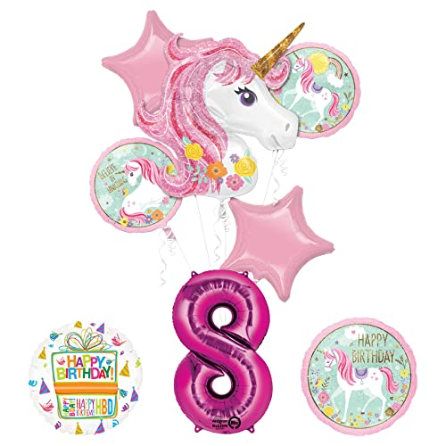 Unicorn Party Supplies Believe In Unicorns 8th Birthday Balloon Bouquet Decorations