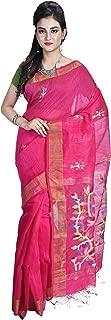 SareesofBengal Women's Handloom Bengal Linen Silk Jamdani Saree