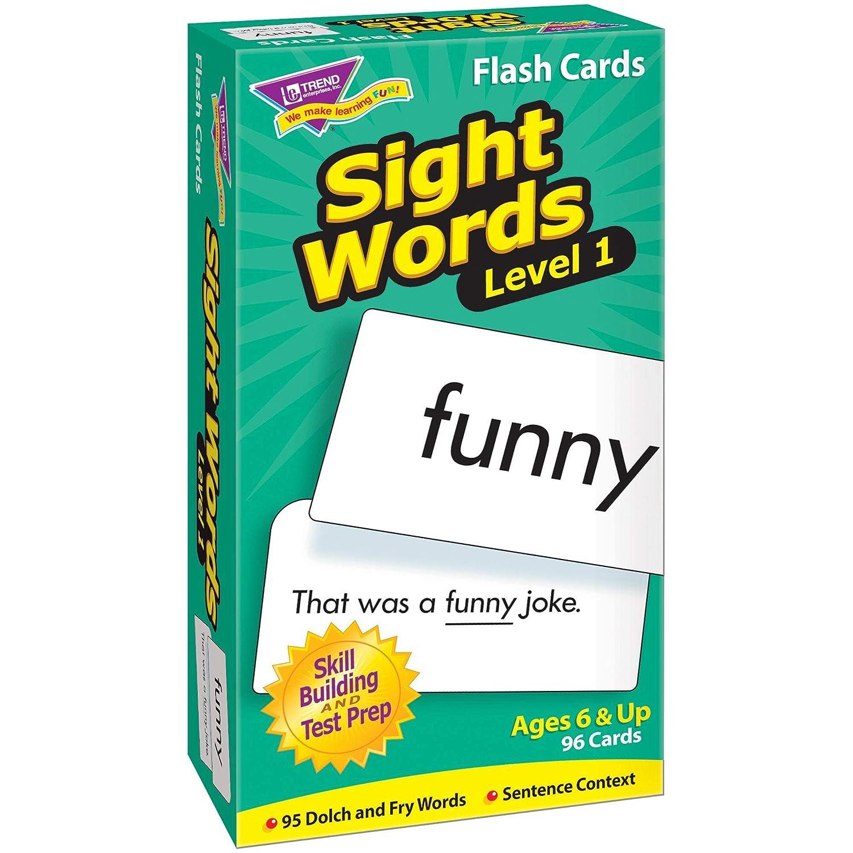 Sight Words-レベル1:スキルドリルフラッシュカード(更新)