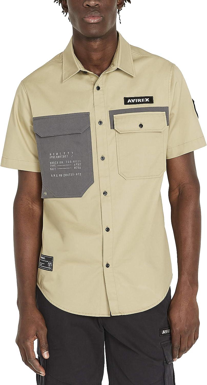 Avirex Men's Patch Pocket Officer Shirt
