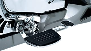 Kuryakyn 4328 Motorcycle Foot Control Component: Premium Mini Board Floorboards with Comfort Drop Mounts for 2001-17 Honda Motorcycles, Chrome, 1 Pair