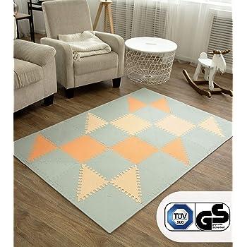 Teppich Kinder, Spielmatte Baby 150 x 195x 1 cm Teppich Kinderzimmer Faltbarer Krabbelmatte Baby XPE-Schaumboden Baby-Spielmatte Baby Spielteppich