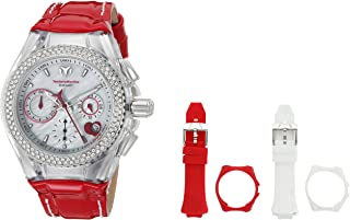 Technomarine Womens Cruise Quartz Stainless Steel and Leather ...