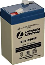 Lithonia Lighting ELB 06042 Emergency Replacement Battery, 6 Volts, 250 Watts, Black