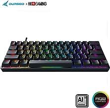 Durgod HK Venus - Teclado mecánico para Videojuegos RGB (60% Layout), Color Cereza PBT de Doble Disparo, NKRO - USB Tipo C - chasis de Aluminio