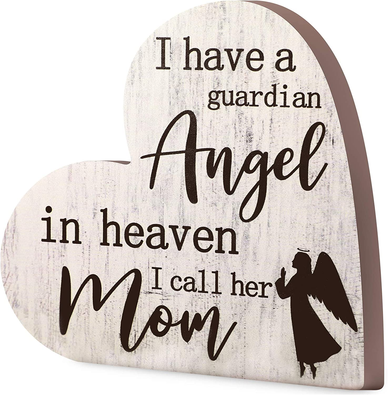 Jetec Bereavement Gift Sympathy Memorial Decor Sign Mother's Day Memorial Sign for Loss of Mother Grief Funeral in Memory of Loved One Condolence Remembrance Sorry for Loss Loving Mom