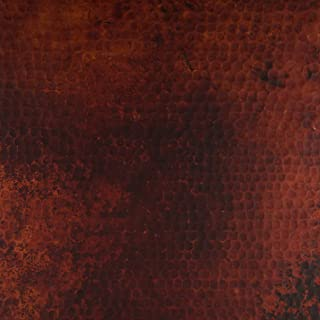 CopperSmith Range Hood - Finish Sample in Red Fire Copper & Beehive Hammered Texture.