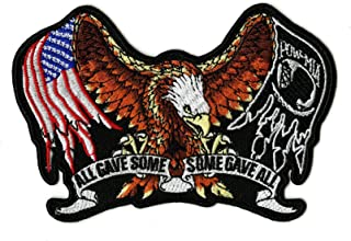Pow Mia Eagle Embroidered Patch | Small All Gave Some US Flag Iron On | - by Nixon Thread Co. (5