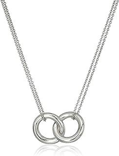 Sterling Silver Interlocking Circle Pendant Necklace