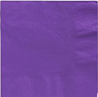 New Purple Beverage Paper Napkins Big Party Pack, 125 Ct.