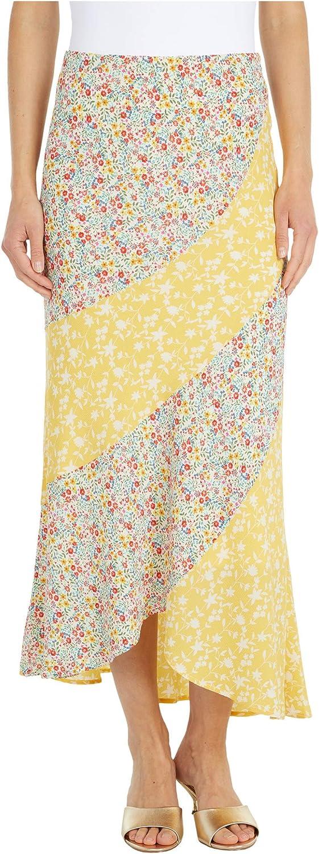 BB Dakota by Steve Madden Women's Mixed Print Buble Crepe Skirt