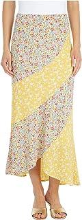 Women's Mixed Print Buble Crepe Skirt