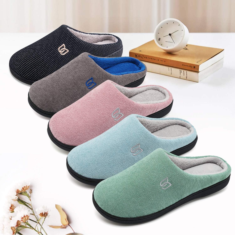 Zapatillas de Estar por casa Mujer Hombre Invierno Interior Pantuflas de casa Suave y Antideslizante Caliente
