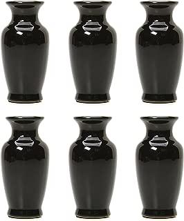 Hosley Set of 6 Black Mini Flower Bud Vases- 3.75