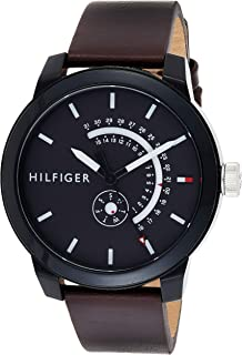 Tommy Hilfiger Mens Quartz Watch, Analog Display and Leather Strap 1791478