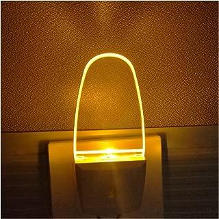 0.5W Plug in Dusk to Dawn Light Sensor Auto on/Off LED Night Light Wall Light 2-Pack Amber/Yellow Glow