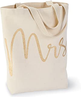 Mud Pie Wedding Mrs. Canvas Tote Bag
