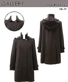 Gallery Women's Dressy a Line Polyester Gabardine Rain Coat
